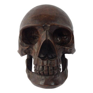 Anatomical Wooden Skull For Sale