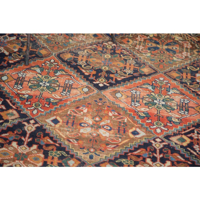 "Antique Distressed Afshar Square Rug - 4'4"" X 5'7"" - Image 9 of 9"