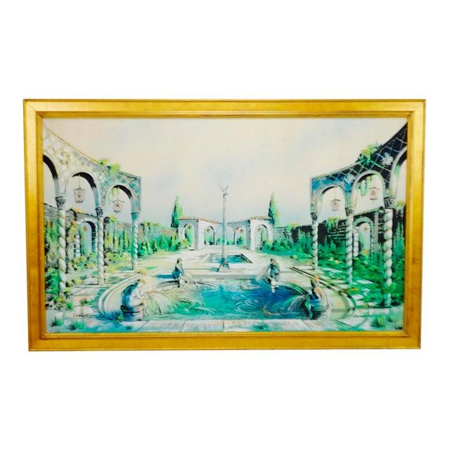 Vintage Signed Illuminated Giclee Painting on Panel - Image 1 of 9