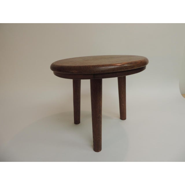 1960s Vintage Round Mid-Century Modern Low Stool or Table For Sale - Image 5 of 5