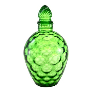 Green Optic Glass Bottle