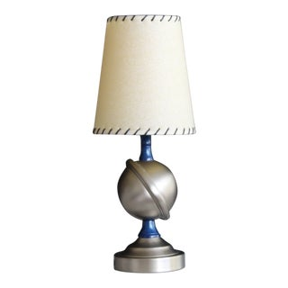 1940s Art Deco Orbital Table Lamp With Shade For Sale