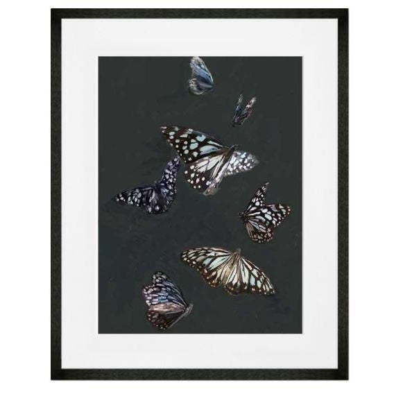 Kenneth Ludwig Chicago Blue Tiger Butterflies Art Print by Cathy Walters For Sale - Image 4 of 4
