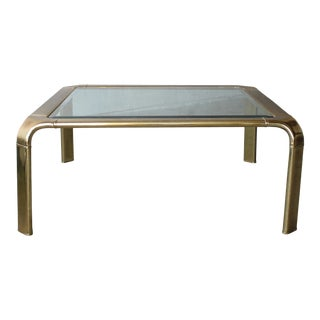 Square Brass Coffee Tables by Widdicomb For Sale