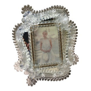 Venetian Murano Glass Photo Frame For Sale