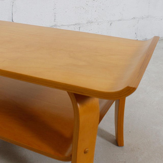 Mid Century Modern Bentwood Coffee Table In Birch With Shelf Chairish