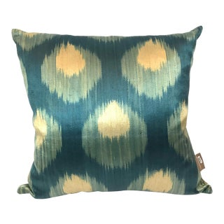 Mehmet Cetinkaya Gallery Turkish Silk Ikat Pillow For Sale