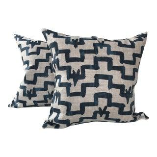 Zak & Fox Tulu Indigo Pillows - A Pair