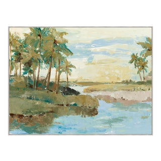 Tropical Island Print Framed Kenneth Ludwig Chicago For Sale