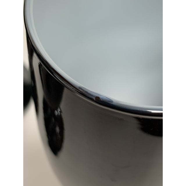 Glass 1960s Carlo Moretti Black and White Cased Glass Goblets - Set of 10 For Sale - Image 7 of 12