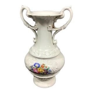 Vintage Meissen Porcelain Vase With Flowers For Sale