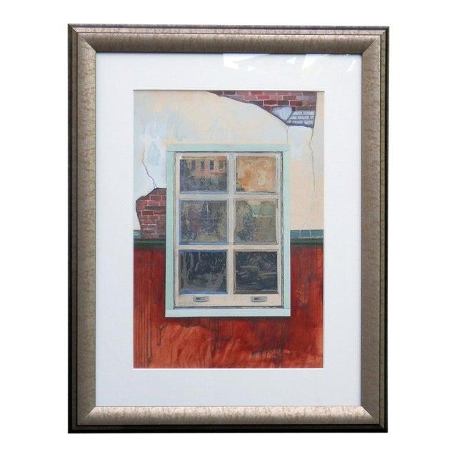 1960s Vintage Robert S. Moskowitz Window Painting For Sale