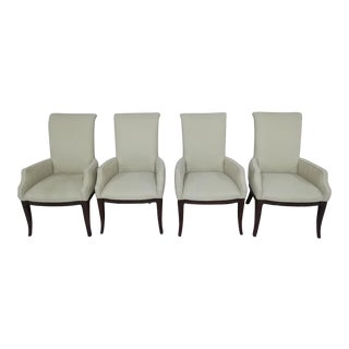 Thomasville Arm Chairs in Cream Weave - Set of 4 For Sale