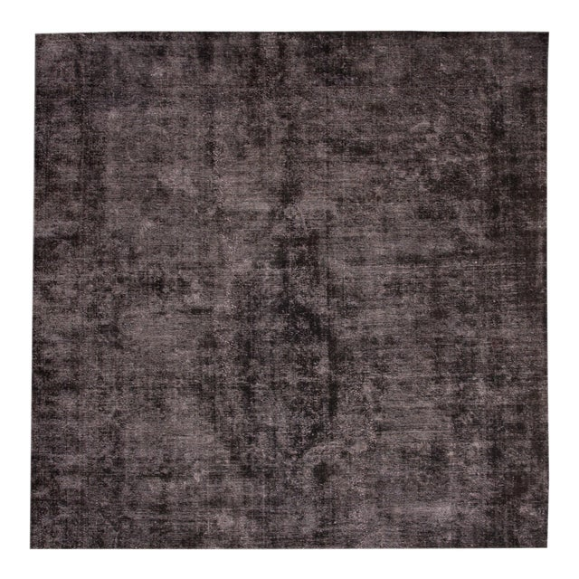 Vintage Wool Overdyed Rug For Sale