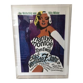 Vintage Lucite Framed Marilyn Monroe Movie Poster
