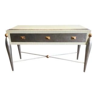 Maitland Smith Style Tessellated 3 Drawer Console For Sale