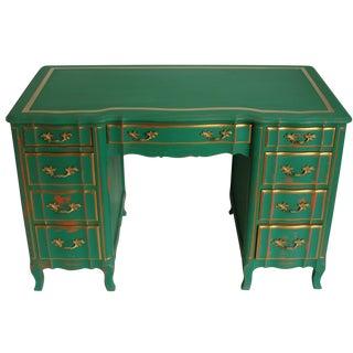 Vintage 9-Drawer Provincial Desk For Sale