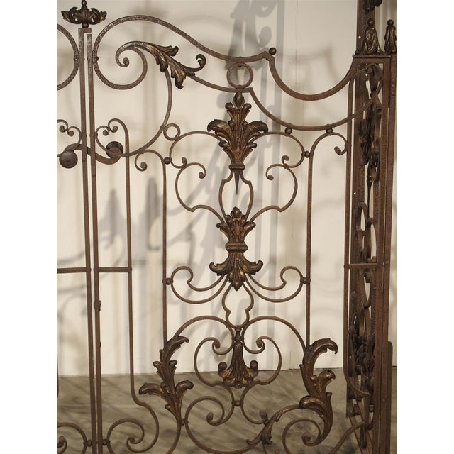 Circa 1800 French Wrought Iron 4 Section Gate - A Pair For Sale - Image 10 of 12