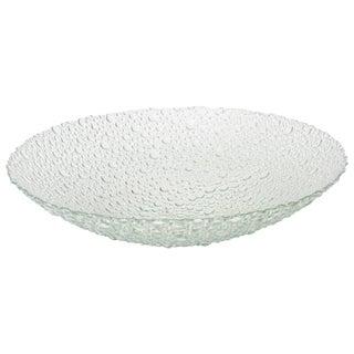 1970s Scandinavian Textural and Sculptural Vintage Bubble Glass Bowl For Sale