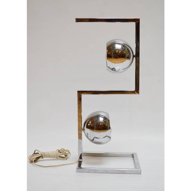 Mid-Century Modern Chrome Eyeball Lamp - Image 5 of 8