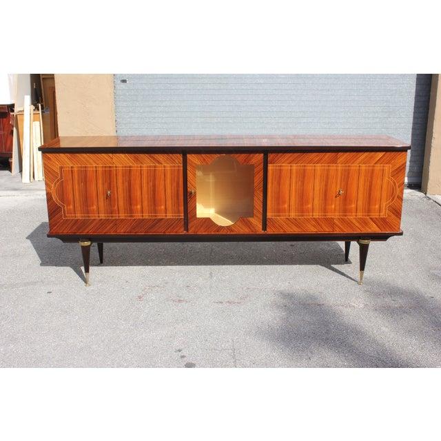 1940s Art Deco Light Macassar Ebony Sideboard / Buffet For Sale - Image 13 of 13