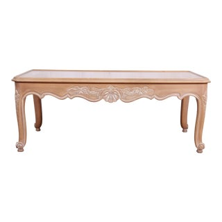 Kindel Furniture Carved French Provincial Louis XV Style Coffee Table For Sale