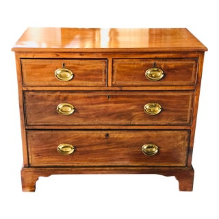 Mahogany Inlaid Chest of Drawers For Sale
