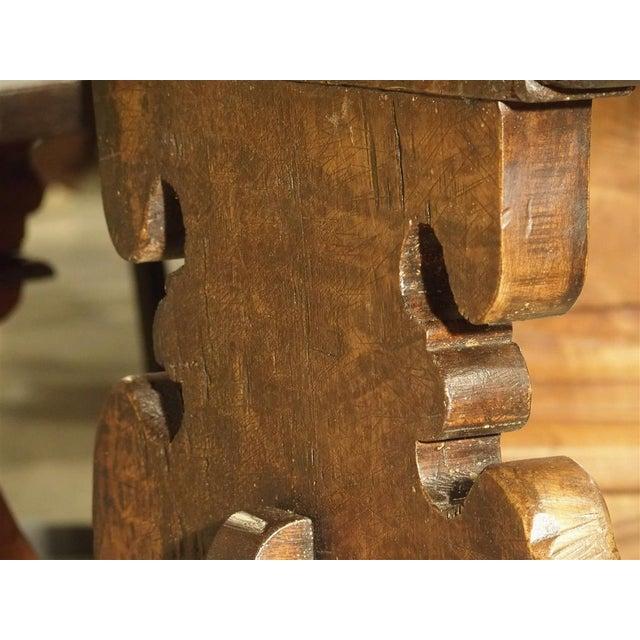 17th Century Italian Walnut Wood Table For Sale - Image 12 of 13