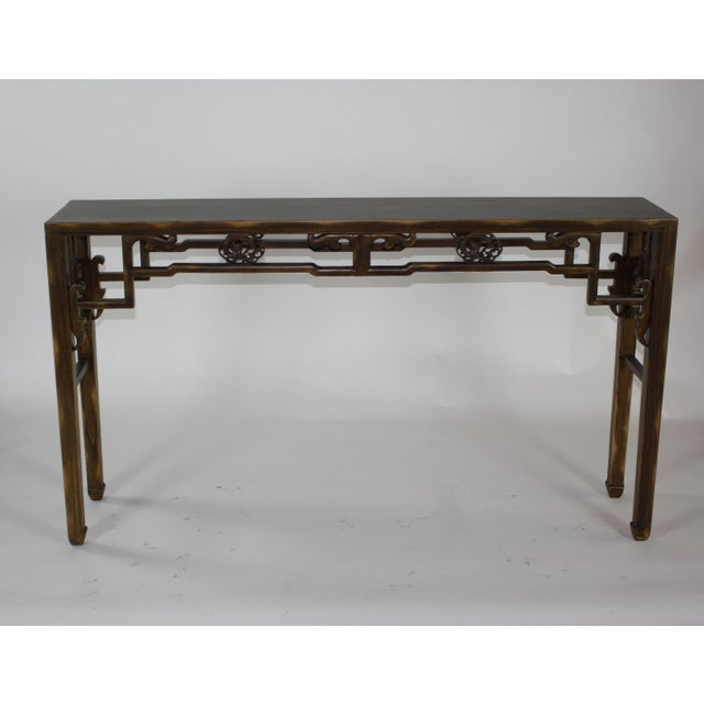 Asian Carved Console Table For Sale - Image 3 of 10