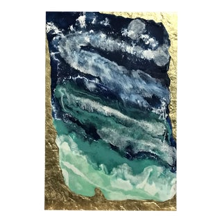 Large Abstract Oil Painting With Resin on Canvas by Franchy For Sale