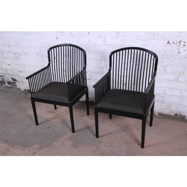 Adirondack Stendig Andover Black Spindle Armchairs - a Pair For Sale - Image 3 of 13