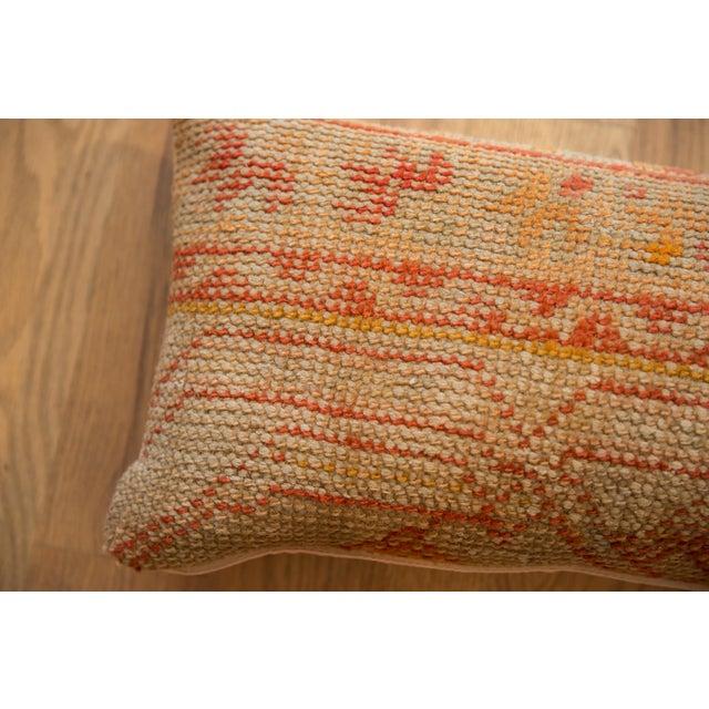 Reclaimed Vintage Turkish Rug Fragment Lumbar Pillow For Sale In New York - Image 6 of 7