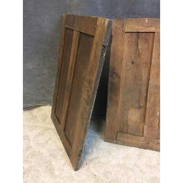 Vintage Rustic Wood Cabinet Doors - A Pair - Image 9 of 11