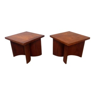 Kroehler Mid-Century Walnut Tables - A Pair