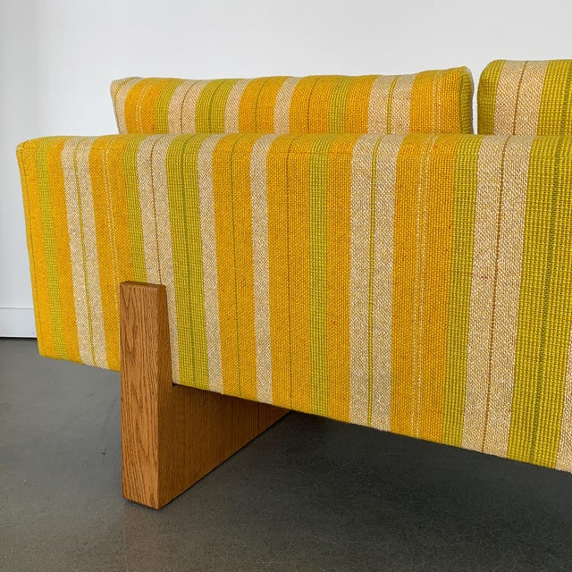 Harvey Probber Tuxedo Sofa With Oak Legs For Sale - Image 11 of 13