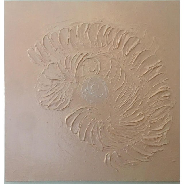 Canvas Abstract Painting, Nautilus For Sale - Image 7 of 7
