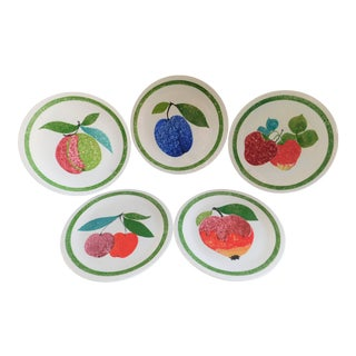 Villeroy & Boch Porcelain Fruit Plates Made in Luxembourg - Set of 5 For Sale