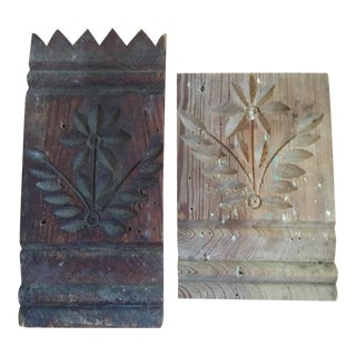 Vintage Architectural Moldings - a Pair For Sale
