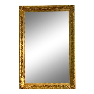 19th Century Antique French Giltwood Mirror For Sale