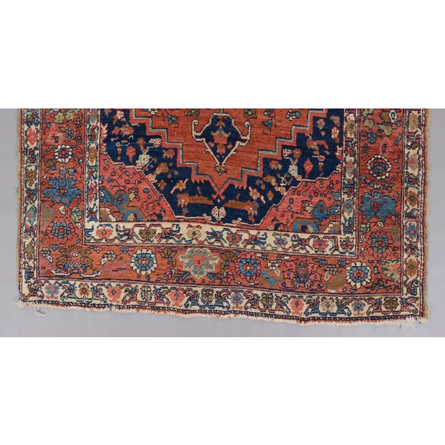 Primitive Heriz Wool Rug - 4′5″ × 6′ For Sale - Image 3 of 6