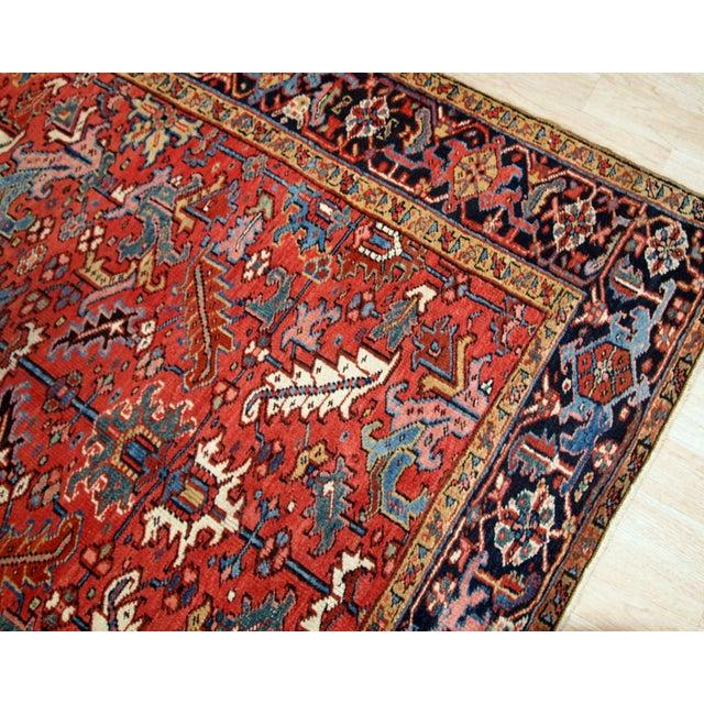 1900s, Handmade Antique Persian Heriz Rug For Sale - Image 10 of 12