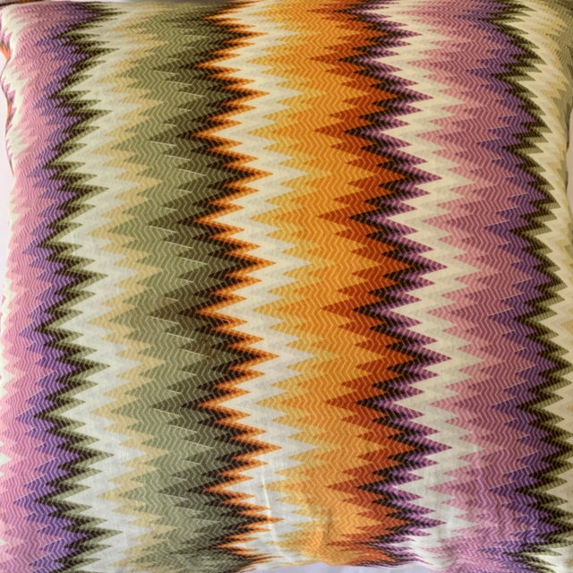 Missoni Missoni Home Multicolor Zig Zag Pillows - Pair For Sale - Image 4 of 7