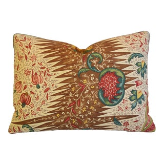 "French Pierre Frey La Riviere Feather/Down Pillow 22"" X 16"" For Sale"