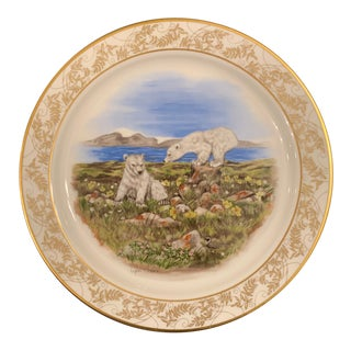 Lynn Chase Lenox Nature's Nursery Polar Bear Plate For Sale