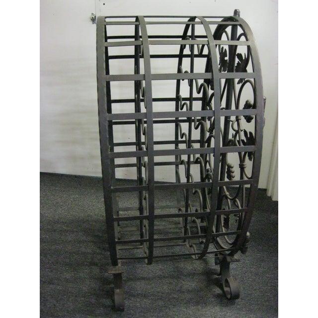 Custom Wrought Iron 24-Bottle Wine Cage - Image 6 of 10