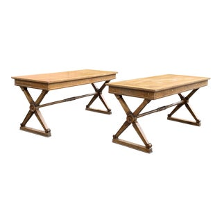 Andre Arbus Attributed Pair of Stunning Neo Classical Console, Desk or Central Table For Sale
