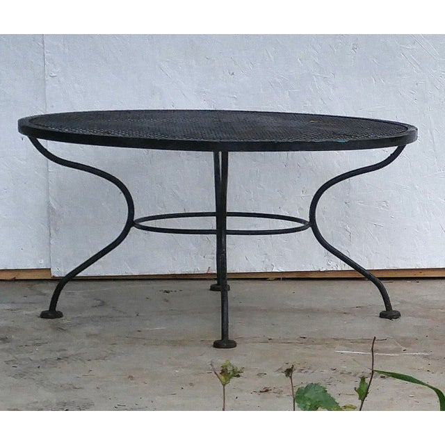 Woodard Vintage 1950s Sculptural Iron Coffee Table - Image 4 of 5