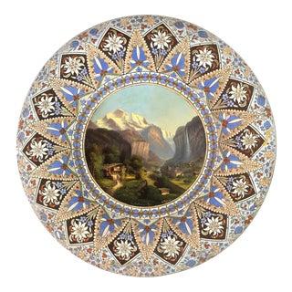 "Thoune ""Thuner Majolika"" Signed Ceramic Decorative Bowl For Sale"