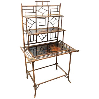 19th Century Boho Chic Bamboo Server For Sale