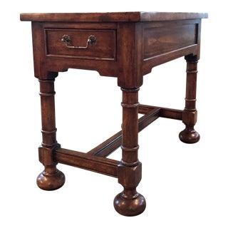 Traditional Bausman Walnut Rectangular End Table For Sale